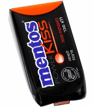 Mentos Kiss Sugar Free Orange Mint Candy Dispensers - 12CT Box