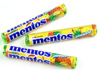 Mentos Pineapple Candy Rolls