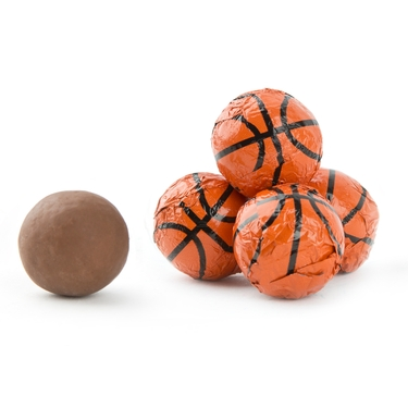 Milk Chocolate Sport Basketballs