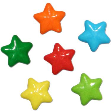 Neon Stars Coated Candy