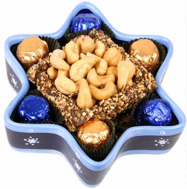 Hanukkah Ceramic Star of David Gift