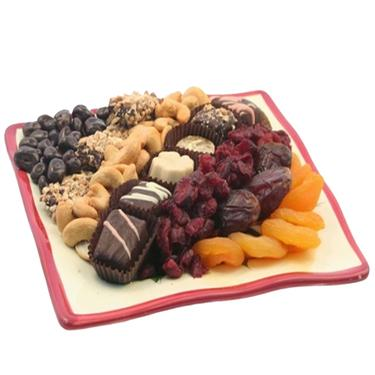 Chocolate, Nuts & Dried Fruit Gift Tray