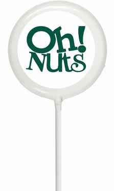 White Oh! Nuts Lollipop
