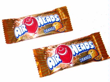 AirHeads Orange Mini Taffy Candy Bars