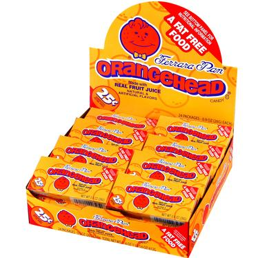 Orangeheads Mini Candy Balls - 24CT Case