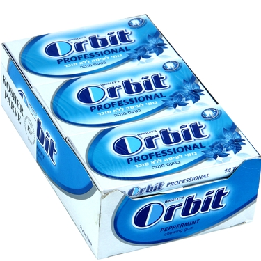 Orbit Professional Peppermint Gum Tabs - 12CT Box