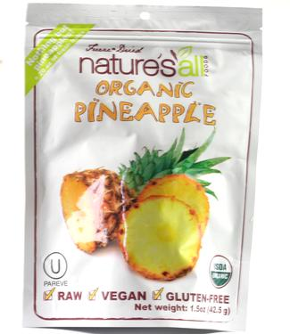 Organic Dehydrated Pineapple Pieces