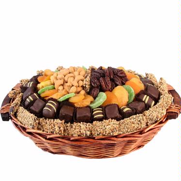 Israel Oval Wicker Gift Basket