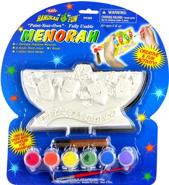 Paint Your Own Real Menorah - Front