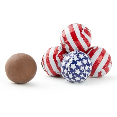 Patriotic Milk Chocolate Balls