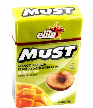 Elite Must Sugar Free Gum - Mango Peach (16CT Box)