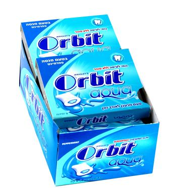 Orbit Aqua Peppermint Gum Pellets Case