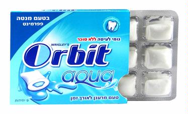 Orbit Aqua Peppermint Gum Pellets