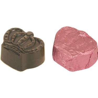 Non-Dairy Pink Foiled Raspberry Crown Chocolate Truffles