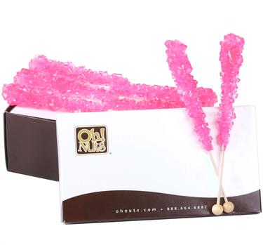 Light Pink Rock Candy Crystal Sticks - Bubble Gum