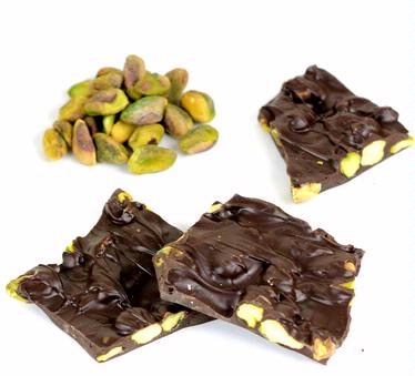 Dark Chocolate Pistachio Barks - 8 oz Box