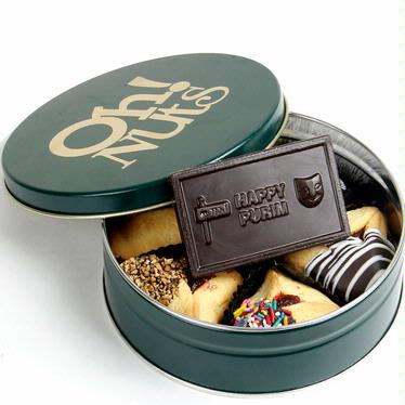 Chocolate Hamantash & Card Gift Tin