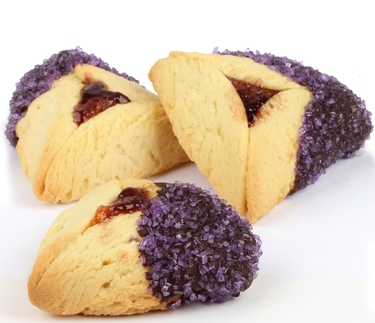 Purple Sprinkled Chocolate Dipped Hamantashen - 8CT Box