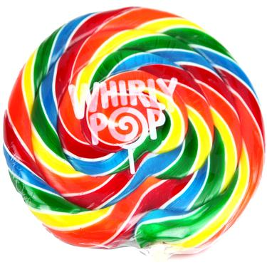 Rainbow Whirly Pops - 10 oz