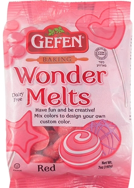 Non-Dairy Red Melting Chocolate Wafers