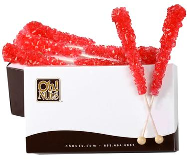 Red Rock Candy Crystal Sticks - Strawberry