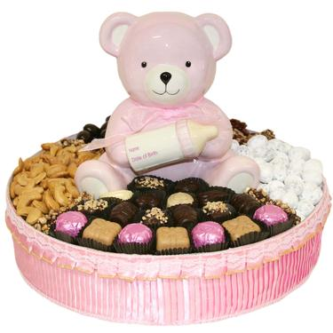 Baby Girl Ceramic Teddy Bear Gift