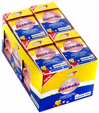 Elite Bazooka Sugar Free Gum Pellets - Strawberry Banana (16CT Box)