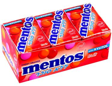 Mentos Sugar-Free Fruit Candy Box - 12CT Case