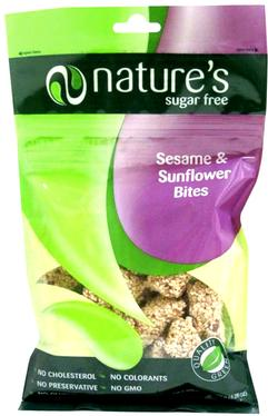 Sugar-Free Sesame & Sunflower Brittle Bites Bag