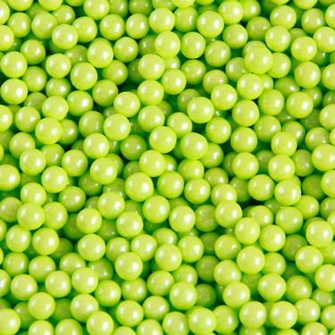 Lime Green Pearl Candy Beads