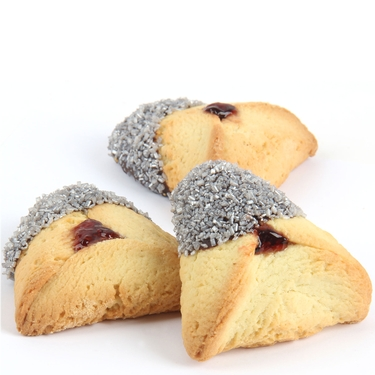 Silver Sprinkled Chocolate Dipped Hamantashen - 8CT Box