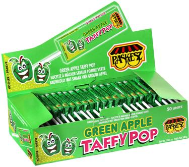 Green Apple Taffy Pop - 50CT Box