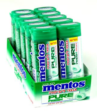 Mentos Pure Fresh Spearmint Filled Gum Case