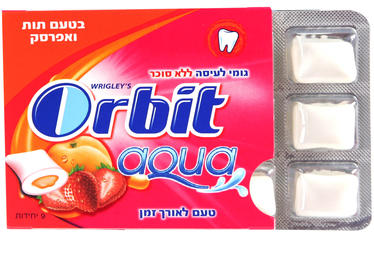 Orbit Aqua Strawberry & Peach Gum Pellets