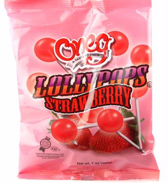 Oneg Strawberry Flavored Lollipops