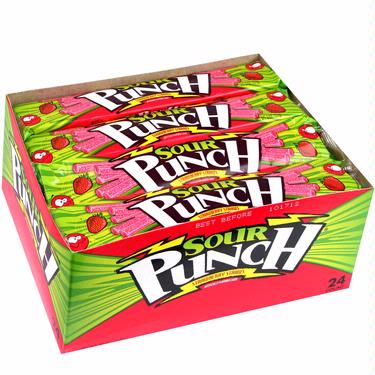 Sour Punch Strawberry Licorice Straws - 24CT Box