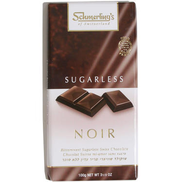 Sugarless Noir Bittersweet Chocolate Bar