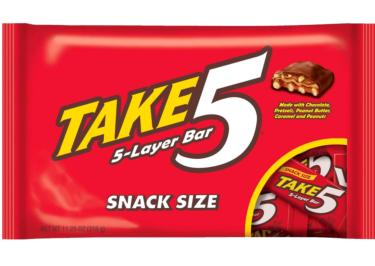 Take 5 Snack Size Chocolate Candy Bars - 11.2 oz Bag