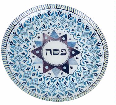 Passover Chocolate Glass Plate