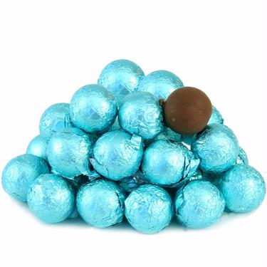 Tiffany Blue Foiled Milk Chocolate Balls