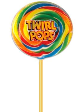 5 oz Rainbow Swirl Whirly Pop - 11-Inches - 6-Pack