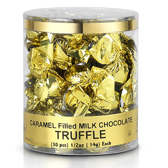 Caramel Filled Twist Wrap Chocolate Truffles - 30CT Tub