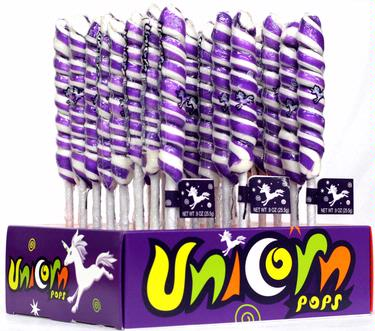 Purple & White Unicorn Pops - 24CT Display Box