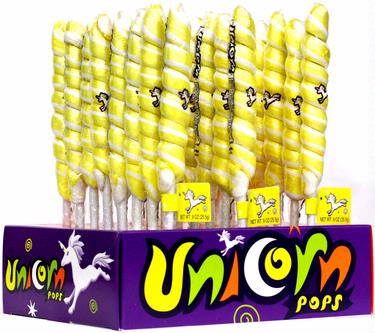 Yellow & White Unicorn Pops - 24CT Display Box