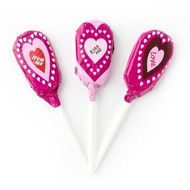 Valentine Heart Milk Chocolate Lollipops