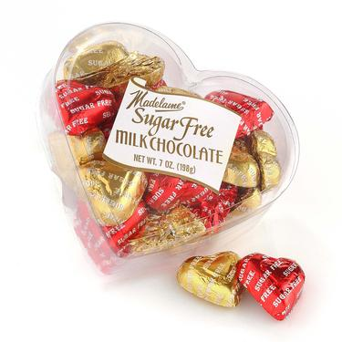 Sugar Free Milk Chocolate Hearts - 7 oz