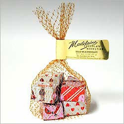 Valentine Milk Chocolate Gifts Mesh Bags - 24PK Tub