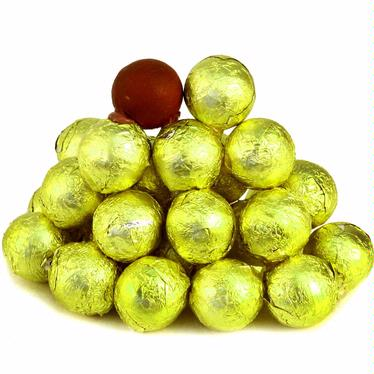 Mustard Yellow Foiled Milk Chocolate Balls