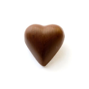 Brown Foiled Milk Chocolate Hearts
