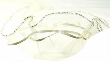 Ivory Organza Bags - 12-Pack